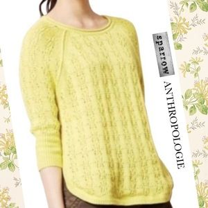 Sparrow bright yellow sweater pullover loose knit